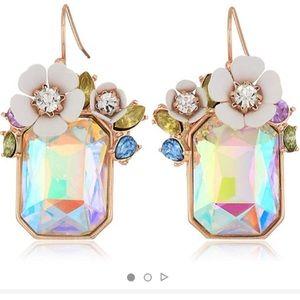 Betsey Johnson Floral Gemstone Earrings